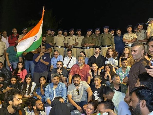 Bollywood protests against the attack on
