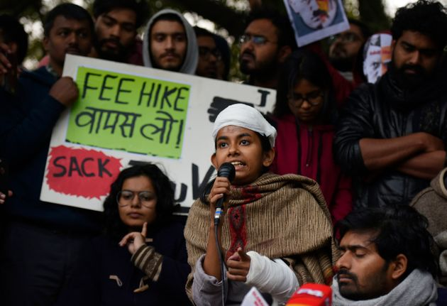 Jawaharlal Nehru University Students Union (JNUSU) president Aishe Ghosh addresses the media on the attack...