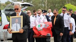 With Hand On Heart, NSW Firefighters Mourn Colleague Andrew