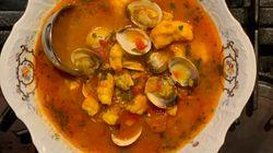 Sopa de pescado y marisco a la