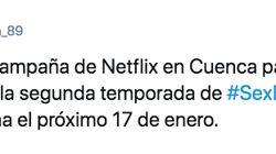 El juguetón eslogan con el que Netflix promociona en Cuenca la segunda temporada de 'Sex