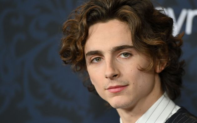 US/French actor Timothee Chalamet arrives for