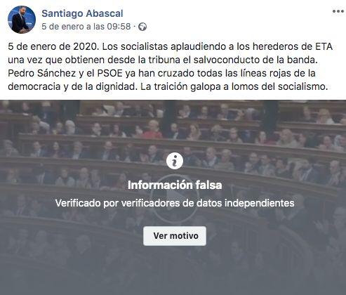 Información falsa de Santiago