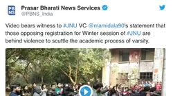 Prasar Bharti News Services Tweets Fake News, Gets Proved