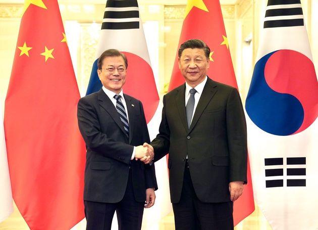문재인 대통령 - 시진핑 중