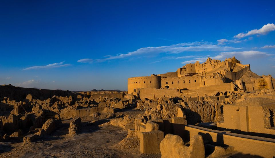 BAM, IRAN - JANUARY 02: The old citadel of Arg-e Bam on January 2, 2016 in Bam, Kerman Province, Iran....