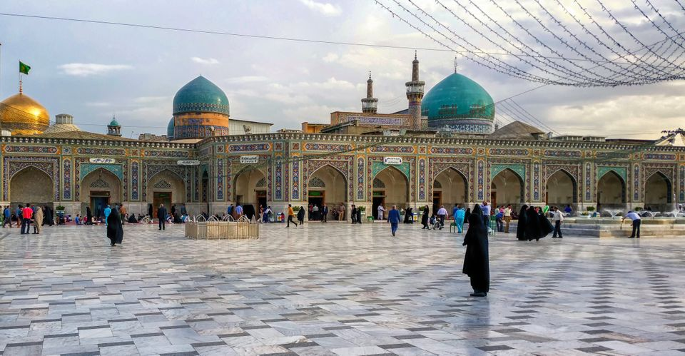 Mashhad, Iran - October 04, 2015: Around the Shrine complex. Haram e Razavi. Mashhad.