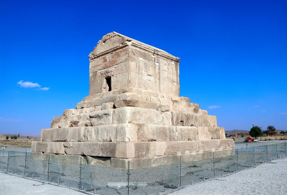 The most important iranian monument - tomb of Cyrus the Great, Pasargadae, Fars Province, Iran. UNESCO...