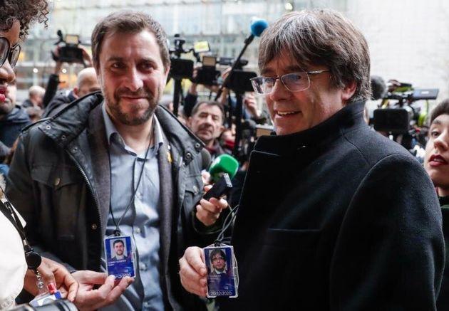 El expresidente de la Generalitat Carles Puigdemont y el exconseller Toni