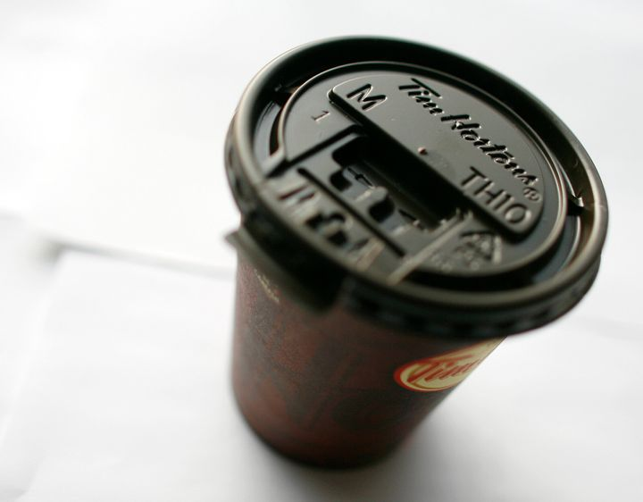 The old Tim Hortons lid: a relic from a time when the sun was still shining.
