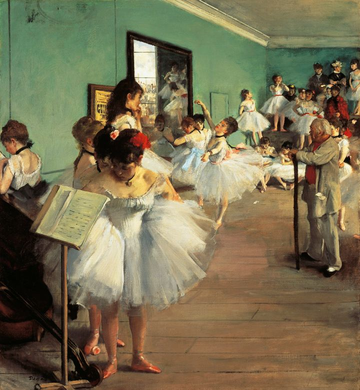 "Dance Examination (Examen de Danse), 1873-1874, by Edgar Degas, whose&nbsp;paintings have cemented ballet&rsquo;s associations with innocence and ethereal French beauty. In truth, they capture the <a href=""https://www.artsy.net/article/artsy-editorial-sordid-truth-degass-ballet-dancers"" target=""_blank"" rel=""noopener noreferrer"">awful reality</a> of sexual and economic exploitation.&nbsp;"
