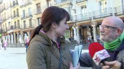 Una militante de Vox, a un miembro de Teruel Existe: