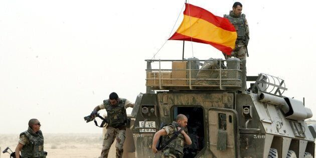 Militares españoles, en plena
