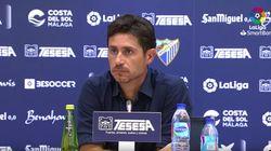 El Málaga suspende de sus funciones a su entrenador tras filtrarse un vídeo