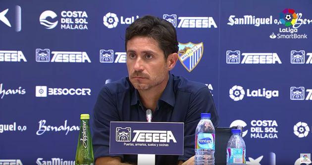 Víctor Sánchez del Amo en una rueda de prensa tras jugar contra el