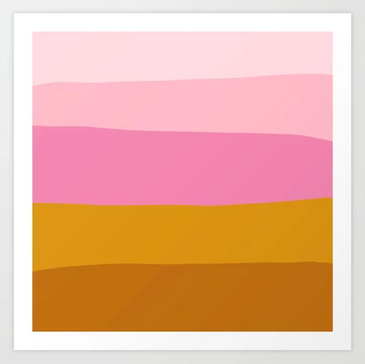 "Spruce up a bare wall with an art print that looks like a sunset.&nbsp;<strong><a href=""https://fave.co/37IlWHe"" target=""_blank"" rel=""noopener noreferrer"">Get this art print at Society6</a></strong>."