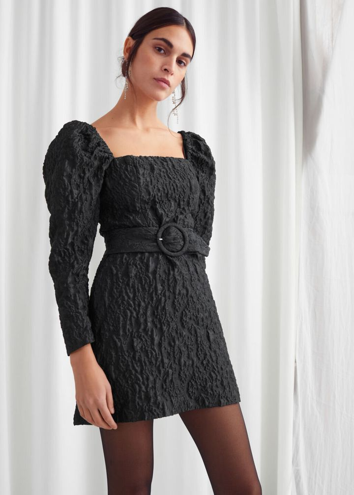 "The puffier the sleeves, the better.&nbsp;<a href=""https://fave.co/2T41kFg"" target=""_blank"" rel=""noopener noreferrer""><strong>Find this dress at &amp; Other Stories</strong></a>."