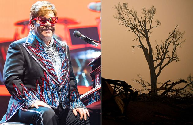 Elton John has made a huge donation to bushfire relief to close his Sydney