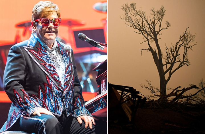 Elton John has made a huge donation to bushfire relief to close his Sydney concert.