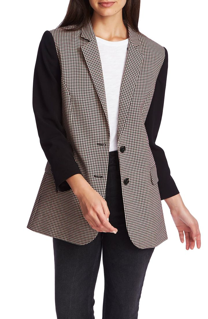 "This blazer brings power dressing&nbsp;to the modern era. <a href=""https://fave.co/35qvK7e"" target=""_blank"" rel=""noopener noreferrer""><strong>Find this blazer at Nordstrom</strong></a>."
