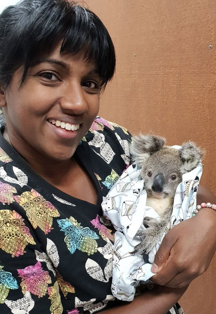 Jade Kingsley et un bébé koala