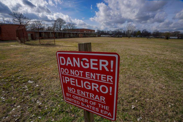 A Superfund site with contaminated soil in Birmingham, Alabama.