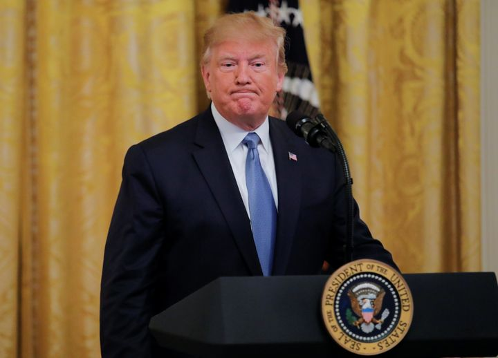President Donald Trump speaks about his administration's environmental policy at the White House in July.