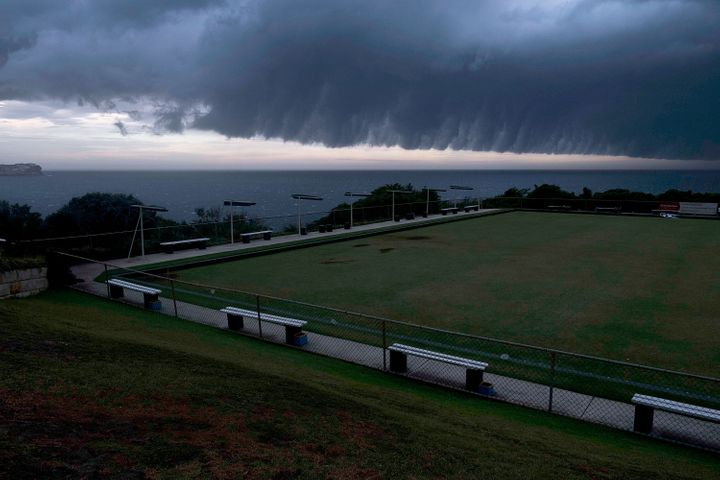 """<<enter caption="""""""" here="""""""">> on January 9, 2018 in Sydney, Australia. Heavy wind, rain and severe hailstorms are expected throughout eastern New South Wales.</enter>"""