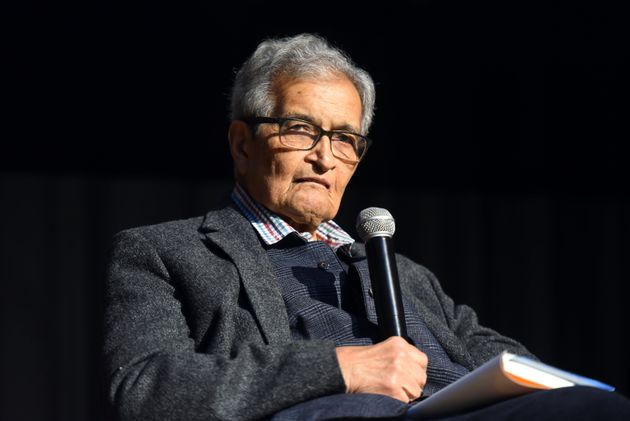 Economist Amartya Sen releases his book A Quantum Leap in the Wrong Direction at Alliance Francaise,...