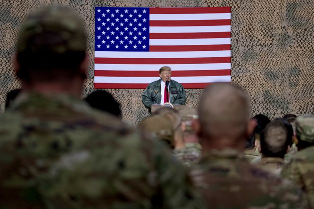 En esta imagen de archivo del 26 de diciembre de 2018, el presidente de Estados Unidos, Donald Trump,...