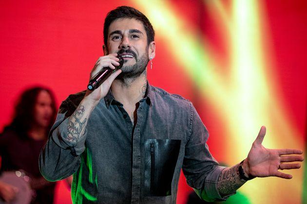 Melendi, durante una actuación en 'El Hormiguero' el 28 de diciembre de
