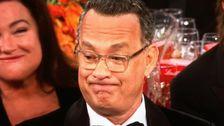 Tom Hanks' Golden Globes Ausdruck Ist Nun Ein Unterhaltsam