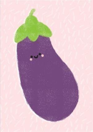 Feeling Fruity Aubergine Card, Moonpig