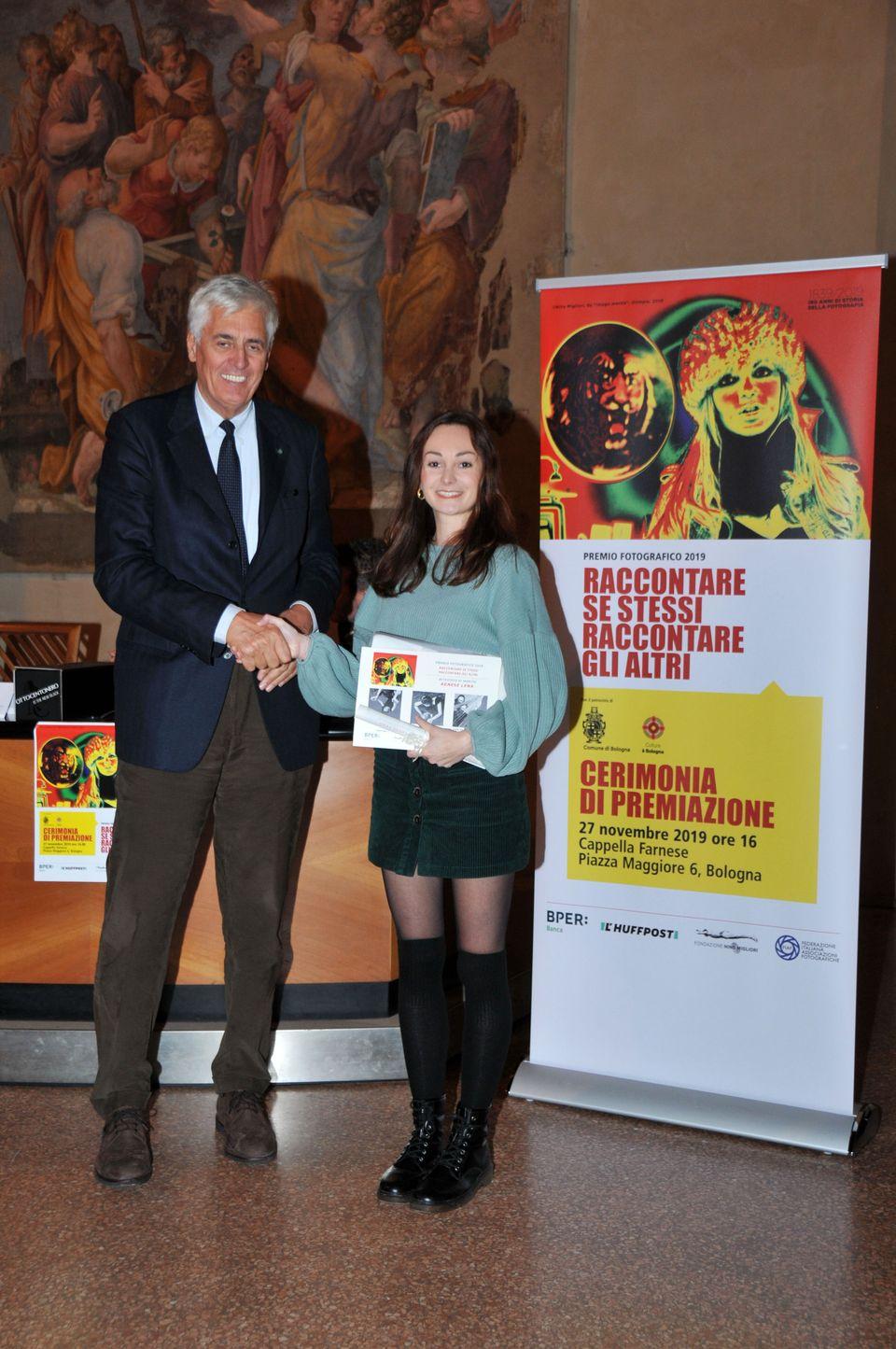 Agnese Lena premiata da Renato Villalta campione