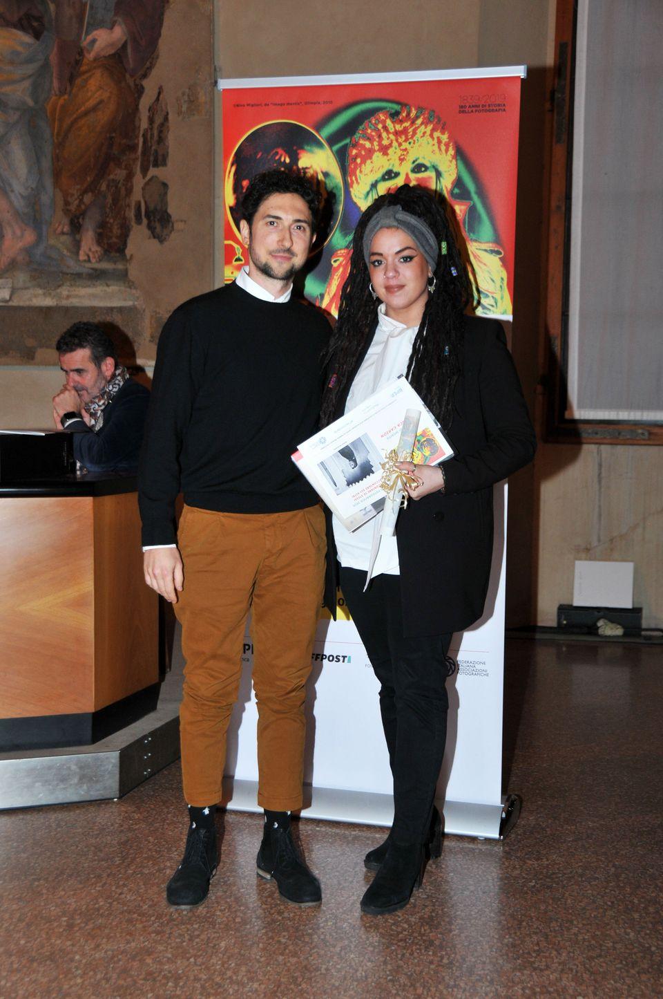 Francesca Carion premiata da Davide Lamagni Media Relation