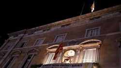 Investigan la retirada de la bandera española del Palau de la Generalitat
