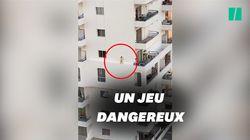 La vidéo d'une petite fille sur la corniche d'un immeuble affole, une enquête