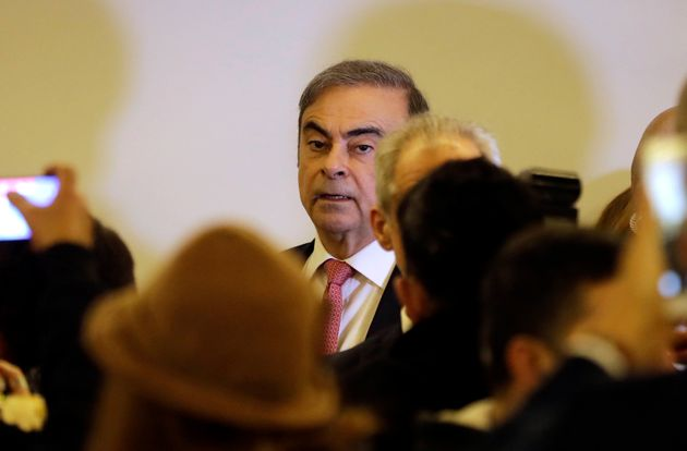 Carlos Ghosn à son arrivée pour la conférence de