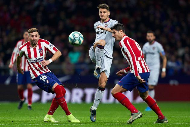 Imagen del partido Atlético de Madrid-Levante el 4 de enero de