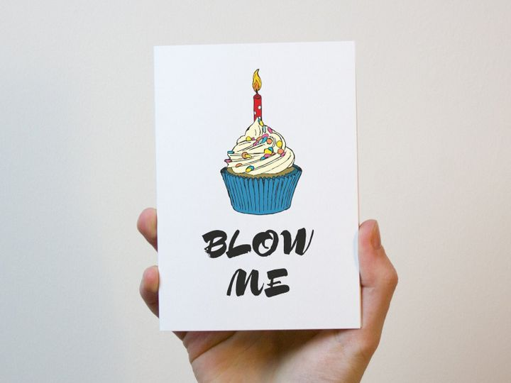 Blow Me Valentines Card, Freckle and Specs, via Etsy