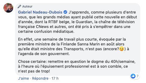 Gabriel Nadeau-Dubois a admis s'être fait prendre par une fausse nouvelle.