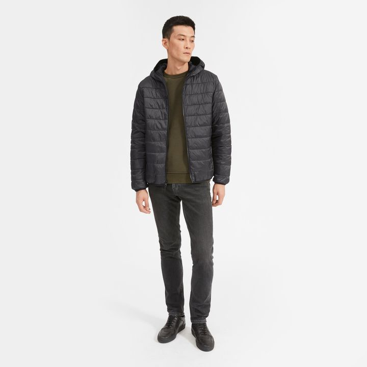 """The <a href=""""https://fave.co/2T5YAr8"""" target=""""_blank"""" rel=""""noopener noreferrer"""">ReNew Puffer</a> from Everlane is made from 16 renewed plastic bottles. It's fully reversible, too, and is insulated with completely recycled PrimaLoft, an alternative to down.&nbsp;"""