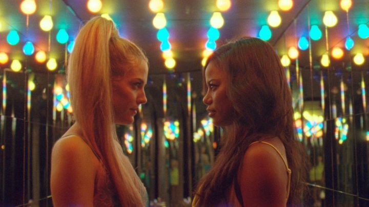 "Riley Keough and Taylour Paige in ""Zola."""