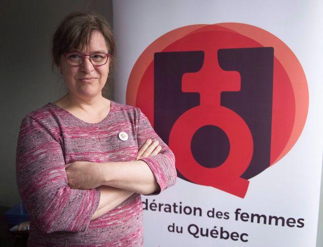La présidente de la Fédération des femmes du Québec, Gabrielle