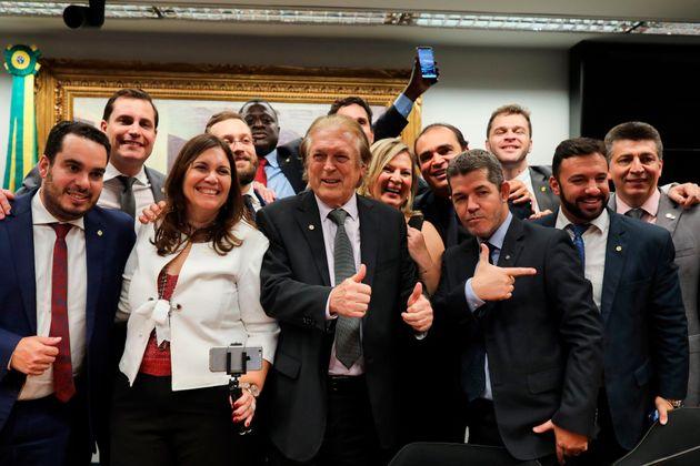 Ao menos 85 das 737 das propostas de deputados do PSL em 2019 reproduzem bandeiras do presidente Jair...