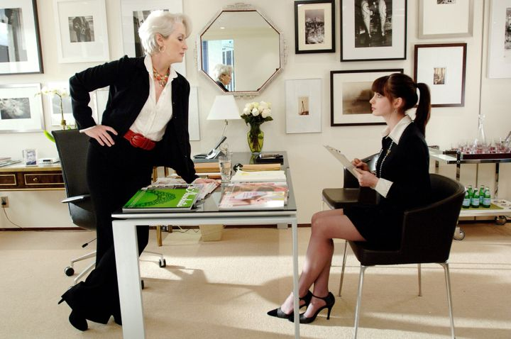 Miranda Priestly (Meryl Streep) is more than a villain, and Andy Sachs (Anne Hathaway) is a less-than-great job applicant.