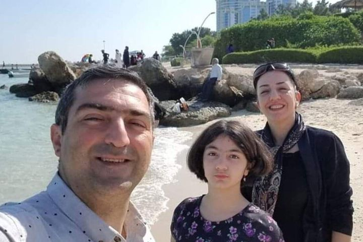 Mohammad Sadeghi (left), his wife, Bahareh Hajesfandiari, and their daughter, Anisa Sadeghi are shown in a handout photo from Facebook.