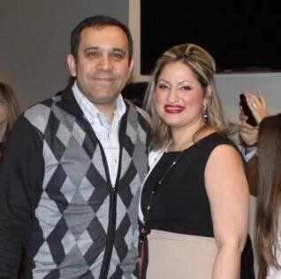 Ardalan Ebnoddin Hamidi and his partnerNiloofar