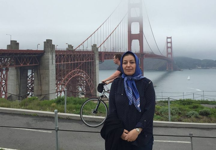 Shekoufeh Choupannejad, pictured here, died on the flight along with her two daughters.