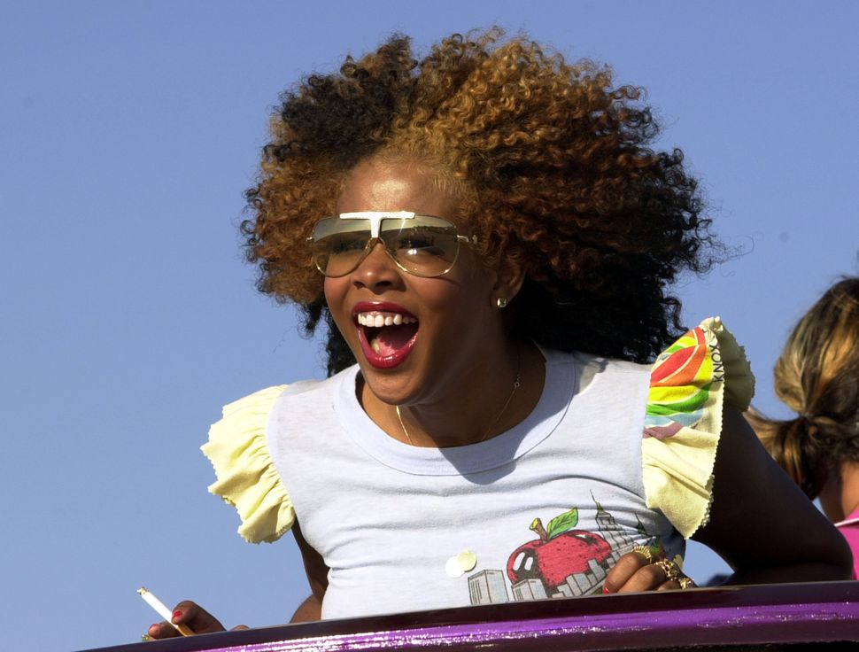 Kelis during Kelis Music Video Shoot at Am Pm Location Set in Northridge, California, United States.